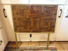 Vintage  Faux Wood Parquet TV Tray/Table