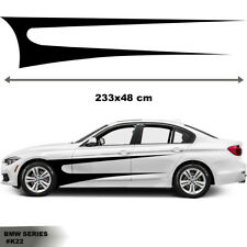 Fits BMW Series 3 Side Racing Stripes Car Stickers  Decal Graphics