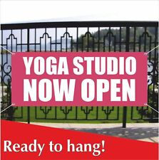 Yoga Studio Now Open Banner Vinyl / Mesh Banner Sign Chakra Reiki Studio Pilates