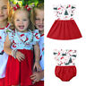 Sister Matching Christmas Clothes Toddler Baby Girl Santa Romper Dress Outfits