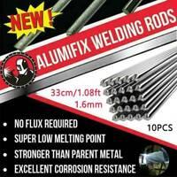 10PCS 33cm 1.6mm Solution Welding Flux-Cored Rods Aluminum Wire Brazing US