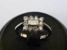 Baguette Cluster I1 Fine Diamond Rings