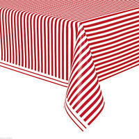 "54""x108"" RED STRIPE CAT IN THE HAT TABLE COVER Birthday Party Supply Decorations"