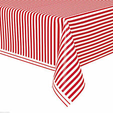 """54""""x108"""" RED STRIPE CAT IN THE HAT TABLE COVER Birthday Party Supply Decorations"""