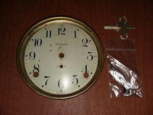 Vtg Seth Thomas 89? Clock Dial Key & Hands No Bezel or Glass