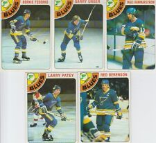 1978-79 Topps Hockey Blues 5 Card Lot Garry Unger VG-EX Cond. #8,53,110,143,218