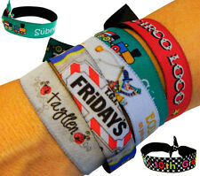 LOT OF 20 PERSONALIZED FABRIC WRISTBANDS / BRACELETS - YOUR PHOTO / YOUR TEXT!!
