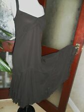 """PER UNA Brown Strappy """"Flamenco"""" Mesh/Net DRESS 16 New with tags* £45"""