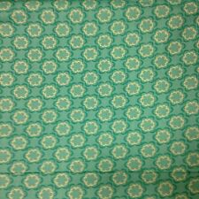 Joann fabric FLOWERS on teal green CHEAP CRAFT COTTON FQ material
