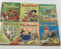 Tell-A-Tale Lot Of 6 Books Donald Duck & The Three Bears & More Whitman HC