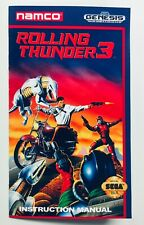 Rolling Thunder 3 - Sega Genesis - Reproduction/Custom Manual Instruction Book
