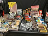 Large Lot of Model Railroad Parts and Accessories New And Used Too Much To List