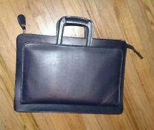 "Vtg Cambridge Attaché Portfolio Briefcase Document Laptop Case 16.5""x11.5"" Navy"