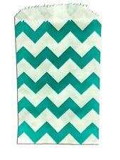50 TEAL Mini Kraft 3x5 Inch Kraft Bags, Cute Goodie Paper Flat Favor Gift Bags