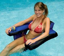 Swimline 90465 Inflatable Nylon Fabric Covered Swimming Pool U-Seat Chair Float