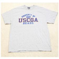 MV Sport Gray USCGA Bears Crewneck Mans Graphic Tee T-Shirt Top XL X-Large G22