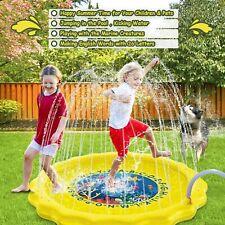 Sprinkler Splash Pad Play Mat Center Toddler Pool Water Toy Outdoor Fun Ring 63'