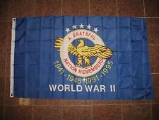 3x5 American World War 2 WWII WW2 Memorial Veteran Flag 3'x5' Banner Grommets