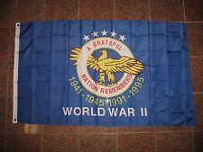 3x5 American World War 2 WWII WW2 Memorial Veteran Flag 3'x5' Banner Grommets