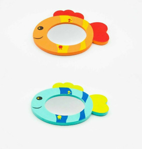 Baby Bath Foam Mirror Floating Fish Colourful Fun Toy Gift First Steps Toddler