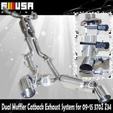 SS Dual Muffler Exhaust System for 09-15 370Z Z34 VQ37DE engines