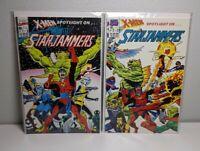 X-MEN SPOTLIGHT ON STARJAMMERS 1 & 2 1990 MARVEL LOT GREAT CONDITION FREE SHIP