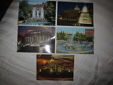 Vtg Italy postcards, Rome, St Peter's Square, Trevi Fountain, Esedra Fountain