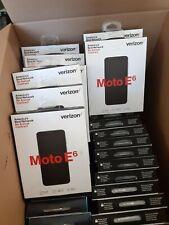 LOT OF 7 NEW Motorola Moto E6 - 16GB - Starry Black (Verizon)