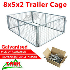 8x5x2 TRAILER CAGE GALVANISED CAGE Tie Down Rachets 2400x1540x600MM