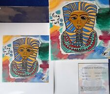 King Tut Giclee Art C.O.A Signed limited Edition 1 of 25 Litho The Boy King Z*S