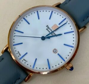 Vintage Steinhausen Men Rose Gold Swiss Analog Quartz Watch Hour~Date~New Batter