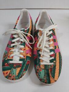 Adidas Ladies Gazelle Floral Shoes - Size 6 - Free Postage