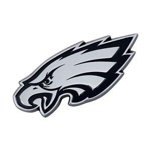 Fanmats NFL Philadelphia Eagles Diecast 3D Chrome Emblem Car Truck 2-4 Day Del.