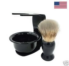 Badger Shaving Brush Set with Stand and Bowl Great Men's Gift Stocking Stuffer