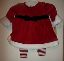 Christmas Outfit Red / Striped Cherokee 3-piece Outfit w/Hat - Sz 0-3 mos -- NWT