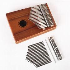 17 Keys Kalimba Thumb Piano Mahogany Wood Musical Instrument Finger Percussion