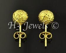 1.60 grams 18k solid yellow gold 8 mm earring earrings diamond cut ball stud