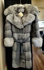 REAL Vintage FUR COAT Mink and SILVER FOX Circa 1950's 1960's Size Small