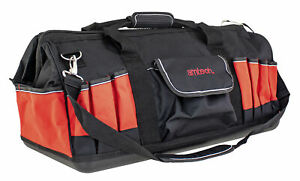 """24"""" 600mm Heavy Duty Hard Base Tool Storage Carry Duffel Bag Contractor Toolbag"""