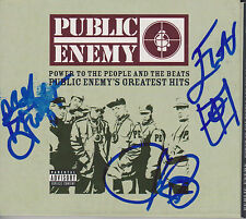 PUBLIC ENEMY Hip Hop SIGNED Greatest Hits CD Album PROOF