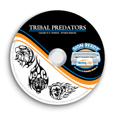 TRIBAL PREDATORS CLIPART-FLAMES VECTOR CLIP ART-VINYL CUTTER PLOTTER GRAPHICS CD