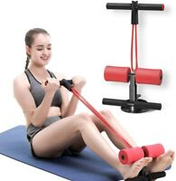 Sit Up Bar with Resistance Bands Adjustable Sit Up Assistant Aid Device Fitness