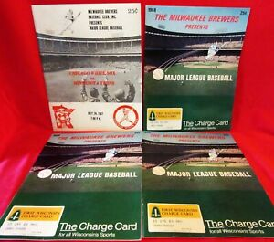 4 ~ MILWAUKEE BREWERS ~ BASEBALL CLUB ~ 1967 & 1968 PROGRAMS