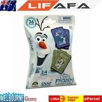New Kids Disney Movie Frozen 36 Pack Snap Card FAMILY GAME For Boys Girls Child