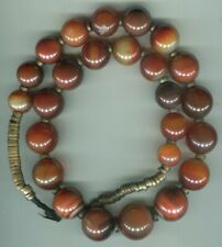 African Trade beads Vintage old large round carnelian agate Idar Oberstein