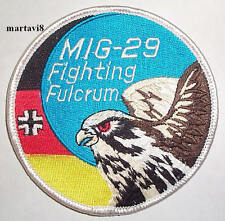 Luftwaffe `MIG-29 FIGHTING FULCRUM` Aircraft Cloth Badge / Patch (R11)