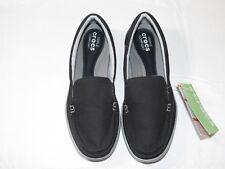Womens crocs standard fit Walu II Canvas loafer w black graphite shoe W 6 W6