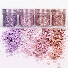 4Pots Sequins Glitter Dust Powder Paillette Tips Nail Art Decor W1R7