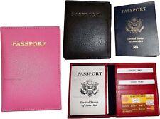 New Leather passport case wallet credit ATM card case ID International passports