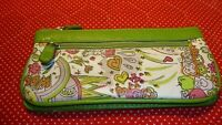Lime Green FLOWER POWER WALLET Retro Groovy Mod Hippie~Multiple compartments 372